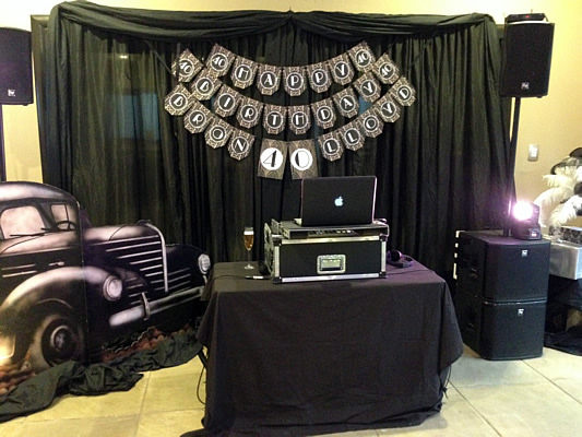 DJ Booth with décor
